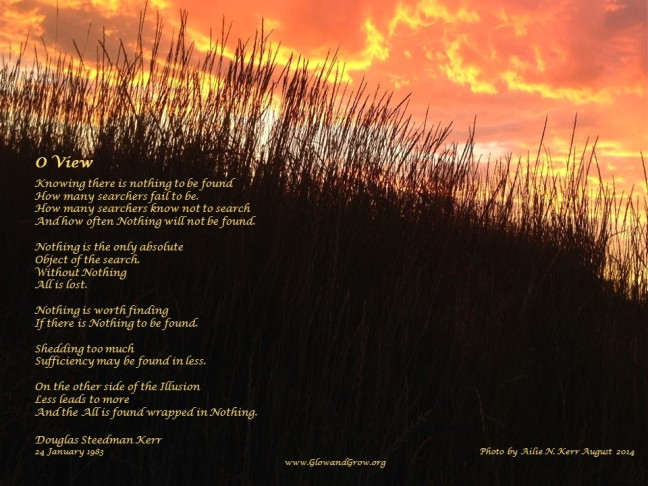 Dad's poem, my photo; collaborative creation!